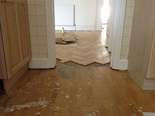 Before-Herringbone Installation
