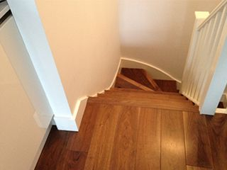 After-Walnut Staircase