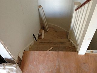 Before-Walnut Staircase