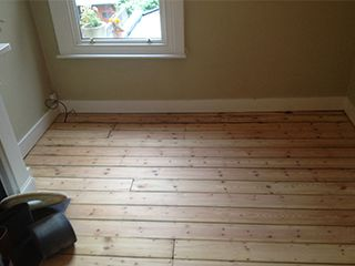 Before-Sand and Seal Pine Flooring