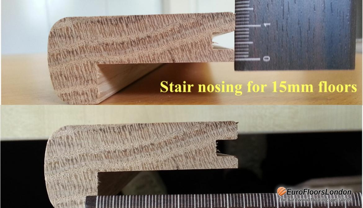 Solid oak Stair Nosing – Unfinished – 15mm