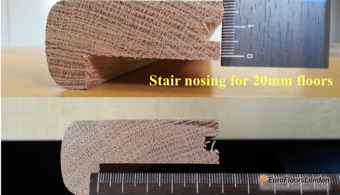Solid oak Stair Nosing – Unfinished – 20mm