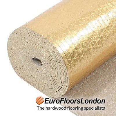 Wood Flooring Damp Proof Underlay – 3.3mm Underlay – TimberTech2 Gold